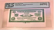 CITY OF PLEASANTVILLE NJ $1 1938 REMAINDER NOTE-PCGS GRADE 64PPQ VERY CHOICE NEW
