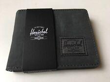 New Mens Herschel Supply Co Roy Bi Fold Gray Street Wallet Card Holder Retail$45