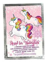 Regenbogen-Einhorn Teepostkarte - Rezept für Winterglück