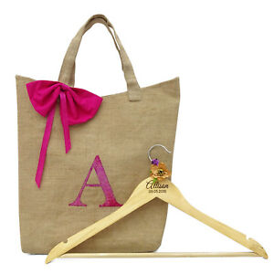 Thank You Gift Bag & Name Engraved Wooden Hanger by Darling Souvenir