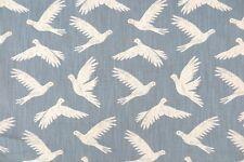 "SANDERSON CURTAIN FABRIC  ""Paper Doves"" 1 METRE DENIM POTTING ROOM PRINTS"