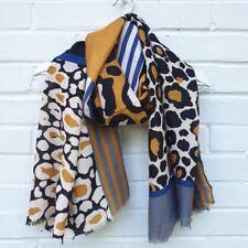 Block Leopard - Mustard Scarf.  Leopard, print sarong, wrap & scarves present.