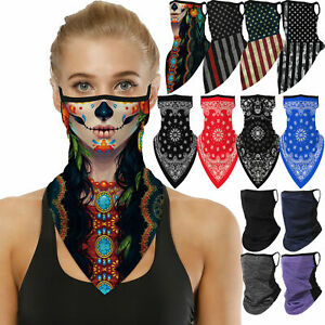 Half Face Mask Bandana Tube Head Scarf Neck Gaiter Balaclava Mouth Cover US