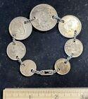 Australian coin bracelet. .925 silver.