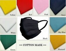 Breathable Cotton Face Mask Unisex Reusable Cycling Washable Protection 100% S/F