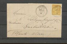 1881 Lettre sage 25c Obl CAD T25 perlé MOUSSEY VOSGES Rare indice 18. P5168