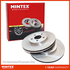New Fits Nissan Navara D40 2.5 dCi 4WD Genuine Mintex Front Brake Discs Pair x2
