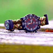 Paracord Watch Water Proof hiking fishing survival wristband