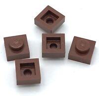 Lego 5 New Reddish Brown Plates 1 x 1 Pieces