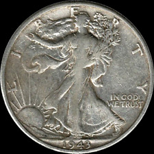 A 1943 S Walking Liberty Half Dollar 90% SILVER US Mint (Exact Coin Shown) R22