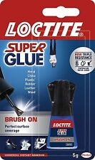 6 x LOCTITE Super Glue Easy BRUSH ON Spreadable Applicator Water Resistant 5g