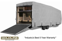 Goldline RV Trailer Toy Hauler Cover Fits 24 to 26 Foot Grey