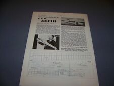 VINTAGE..S.Z.D. ZEFIR...3-VIEWS/CROSS SECTIONS/PHOTOS...RARE! (372E)