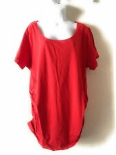 d85e57f3 Oh! Mamma Maternity Short Sleeve Tee with Flattering Side Ruching Size 2XL
