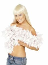 Deluxe Feather Boa Rocky Horror Fancy Dress Accessory 180cm 80g White Boa