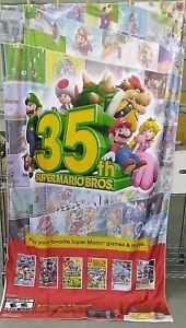 "RARE! Mario 35th Anniversary Nintendo Fabric Banner Poster 48"" x 88"" GameStop"