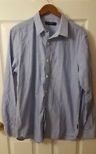 French Connection Men's Size 16.5 Blue Striped  Button Down Dress Shirt
