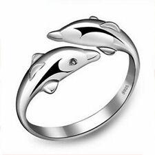 Dolphin Öffnung Ring Eheringe-Freundschaftsringe Partnerringe Trauringe-sil I5R1