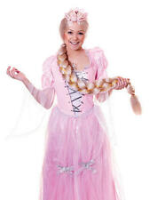 Onorevoli lunga BIONDA TRECCE PARRUCCA SPILLA Fairy Princess Fancy Dress