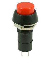 Red Latching Locking Round Push Button Switch SPST Car Dashboard 12V
