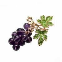 Grape Brooches For Women Brooch Pin Jewelry Elegant Wedding Bouquet Broches N1H9