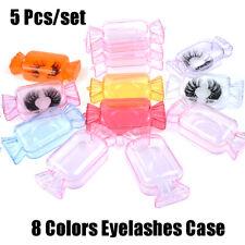 5Pcs/set Candy Shape Eyelashes Case Empty Eyelashes Trays Packaging Box Fak