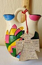 Vintage Wedding Pitcher Legend of Indian Tag Medicine Man Love Potion Holder