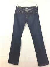 "Rock & Republic Size 29 Denim Jeans Dark Wash Straight Leg EUC 34"" Inseam J30"
