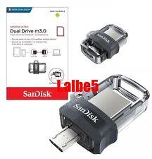 Sandisk Ultra Dual Drive 16GB 32GB 64GB 128GB OTG m3.0 USB Flash Drive Android