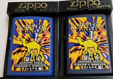 Zippo Camel VOLCANO 1999 Z 545 AND 546 Navy and Blue case VERY RARE