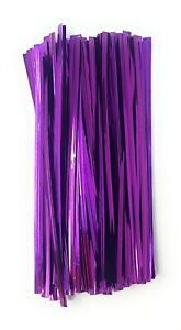 Coloured Twist Ties Metallic Gift Treat Cellophane Sweet Party Bags Sandwich UK