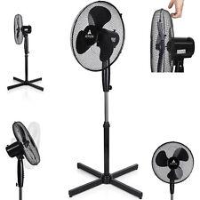 Standventilator Ventilator Windmaschine Luftkühler Oszillierend 50W Schwarz