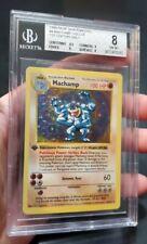 1999 Base 1st Edition Machamp Holo Shadowless Pokemon Card BGS 8 Not PSA