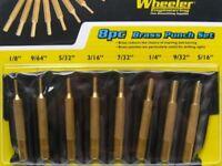 """Wheeler 780194 8 Piece Brass Punch Gunsmith Gun Maintenance Set 0.125 To 0.31"""""""