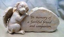 """Dog Memorial Pet Funeral Ornament Puppy Inspiration Garden Stone """"Sculpture"""""""