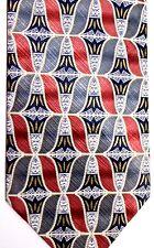 """Irvine Park Men's Silk Tie 57"""" X 4"""" Multiple Color Geometrics"""