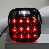 12V Motorcycle Smoke LED Tail Brake License Plate Lamp Light