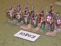 25mm roman era / roman - late archers 12 figs - inf (10803)