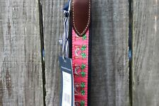 Men's Vineyard Vines Canvas Club Belt Christmas Santa Hammock Leather SZ 30