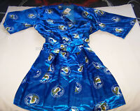 Parramatta Eels NRL Mens Blue Satin Kimono Dressing Gown Robe One Size New