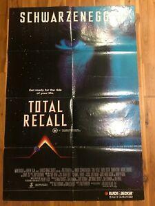 Original 1-Sheet Poster 27x41: Total Recall (1990) Arnold Schwarzenegger