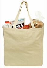 Reusable Grocery Canvas Shopping Bag, Sturdy Shoulder Straps for Heavy Groceries
