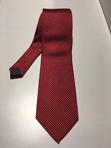TIE RACK Red/White Dotted Tie - 8.5cm Width - 100% Silk