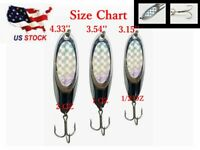 MR CHAMP Casting Spoon 1 1//2oz Holographic Fishing Lure Treble Hook Pink