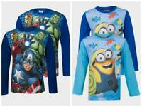 Boys Official Despicable Me Minions & Avengers Long Sleeve Top 4 to 10 Years