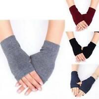 UK 1 Pair Cashmere Fingerless Arm Warm Winter Gloves Hand Long Warmer Mittens