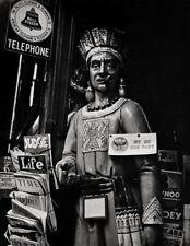 1933/63 Vintage WOODEN INDIAN Cigar Store Smoking Photo Art 11x14 ~ ANSEL ADAMS