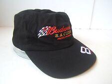 Black Budweiser Racing Hat #8 Dale Earnhardt Jr Nascar Hook Loop Cap