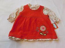 Kids Play Girl's Youth Turtle Neck Shirt Sleeveless shirt 2 piece set 3/6 Months
