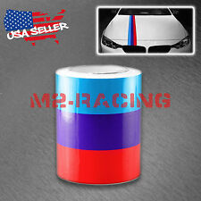 "6""x59"" M Racing Stripe Car Sticker Decal For BMW Exterior Hood Roof Bumpers M"